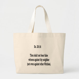 Not  Even, 6 Large Tote Bag