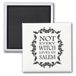 NOT EVERY WITCH LIVES IN SALEM Pagan Halloween Magnet