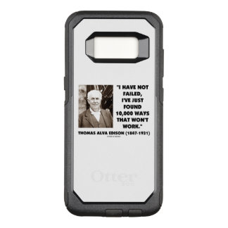 Not Failed Found 10,000 Ways Won't Work Edison Qte OtterBox Commuter Samsung Galaxy S8 Case