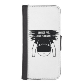 Not fat, just pregnant iPhone SE/5/5s wallet case