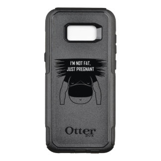 Not fat, just pregnant OtterBox commuter samsung galaxy s8+ case