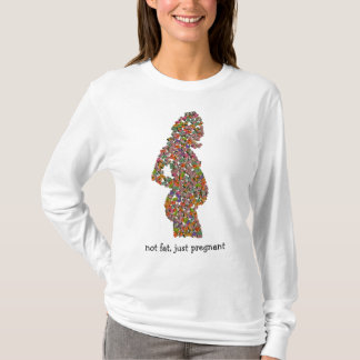not fat, just pregnant tee