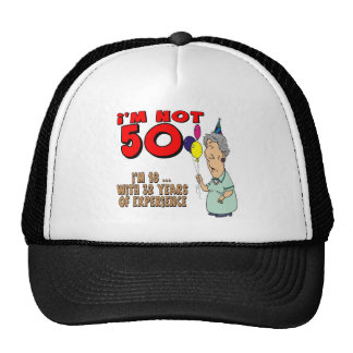 Not Fifty 50th Birthday Gifts Cap