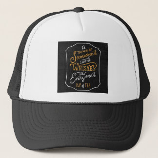 not for everyone. trucker hat