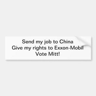 Not for Mitt Romney Car Bumper Sticker
