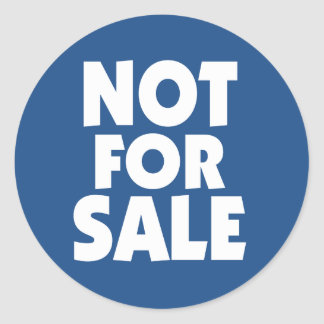 Not for Sale sticker