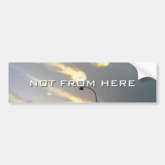 Not From Here bumper sticker