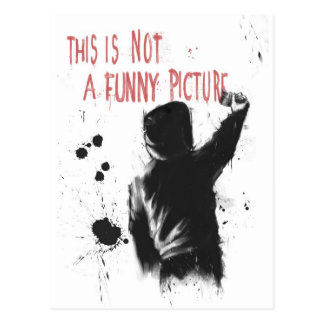 Not funny post card