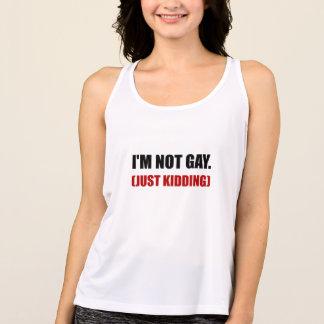 Not Gay Just Kidding Singlet