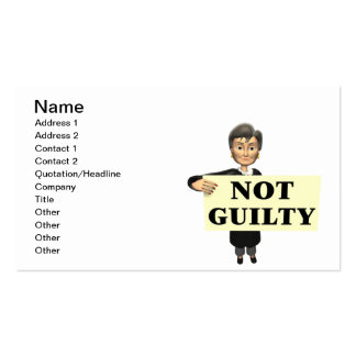 Not Guilty Pack Of Standard Business Cards
