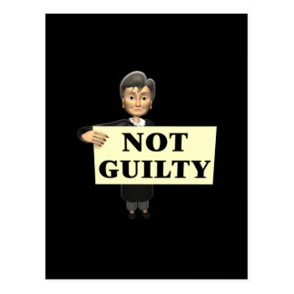 Not Guilty Postcard
