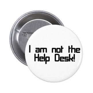 Not Help Desk 6 Cm Round Badge