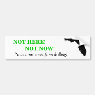 Not Here Not Now Bumper Sticker -White