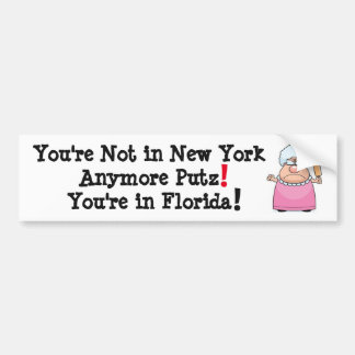 NOT IN NEW YORK ANYMORE BUMPER STICKER PERFECT!