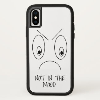 NOT IN THE MOOD Funny Angry Face iPhone X Case