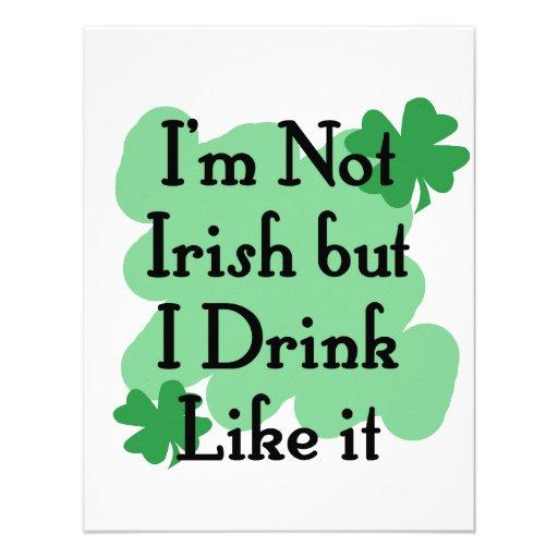Not Irish Personalized Announcement