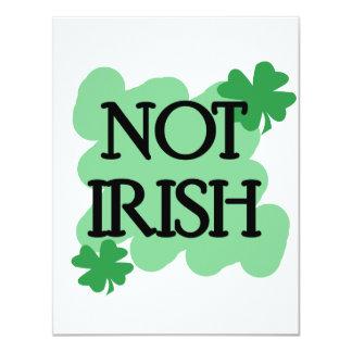 not irish custom invites