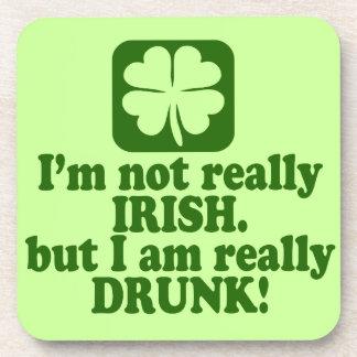 Not Irish Just Drunk Beverage Coaster