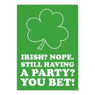 Not Irish St Patrick's Day Party Invite