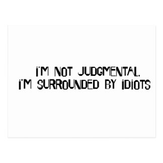 Not Judgmental Postcard