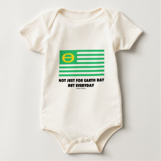 Not Just For Earth Day But Everyday (Ecology Flag) Baby Bodysuit