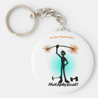 Not Just Physical... Basic Round Button Key Ring