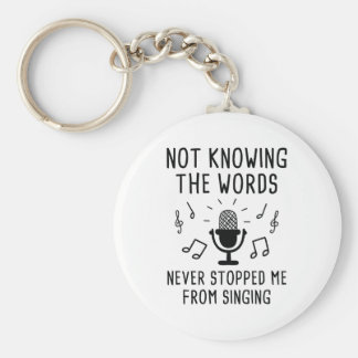 Not Knowing The Words Key Ring