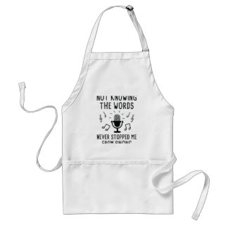 Not Knowing The Words Standard Apron
