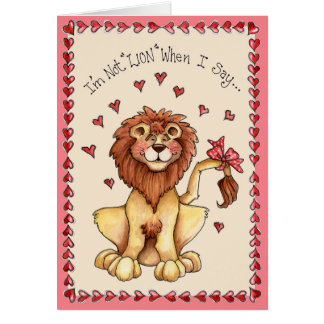 Not Lion - Greeting Card