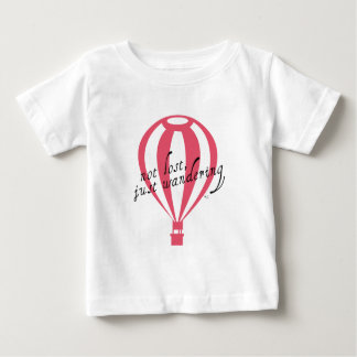 Not Lost, Just Wandering Travel Slogan Baby T-Shirt