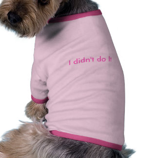Not Me Doggie Tshirt