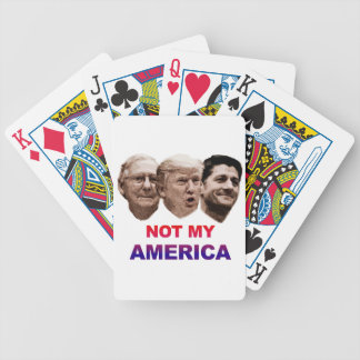Not My America Bicycle Playing Cards