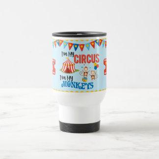 Not My Circus Personalized Travel Mug