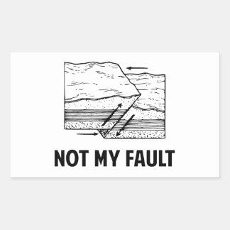 Not My Fault Rectangular Stickers