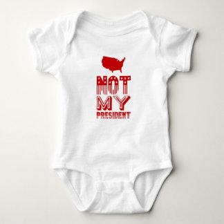 Not My President America Red Baby Bodysuit