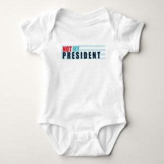 Not My President Baby Bodysuit