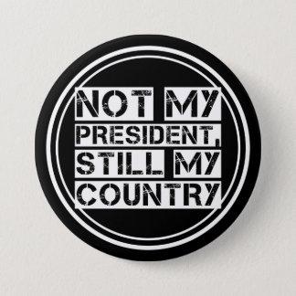 Not My President Black White Stencil Text Round 7.5 Cm Round Badge