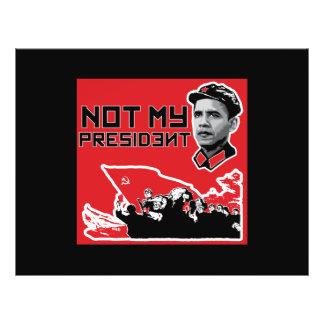not my president fliers 21.5 cm x 28 cm flyer