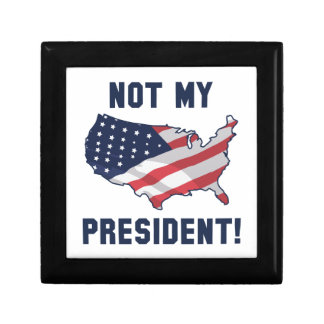 Not My President Small Square Gift Box