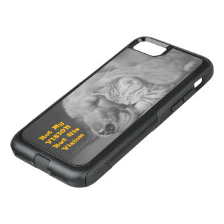 Not my Vision But His Vision Friendly Cat and Dog OtterBox Commuter iPhone 7 Case