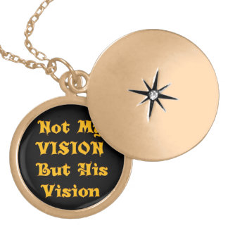 Not my Vision but His Vision Gold Plated Necklace