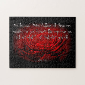 Not My Will But Yours Be Done Mark 14:36 Scripture Jigsaw Puzzle
