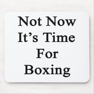 Not Now It's Time For Boxing Mouse Pad