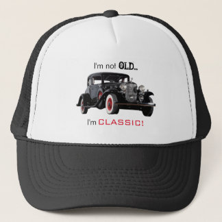 Not Old But Classic Vintage Car Funny Trucker Hat