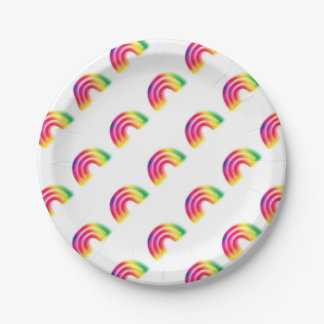 Not one or two, but three rainbows! paper plate