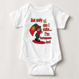 Not only am I cute, I'm Portuguese too Baby Bodysuit