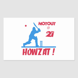 Not out at 21 rectangle sticker