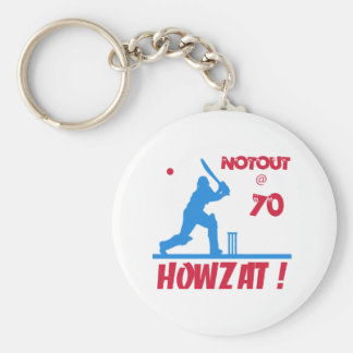 Not out at 70 key ring