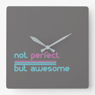 Not Perfect but Awesome!! Square Wall Clock