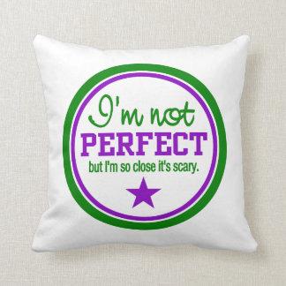 Not Perfect custom throw pillow